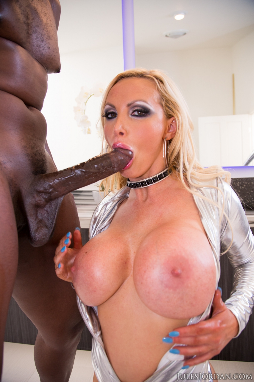 Big Tits Porn Star Takes Really Big Black Prick